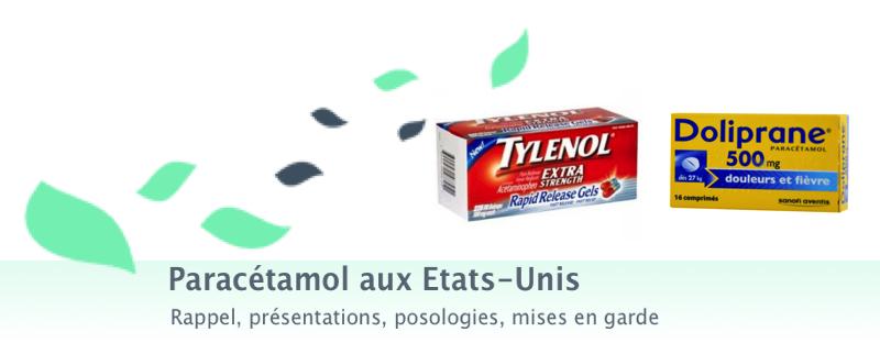 pourquoi le tylenol est interdit en france